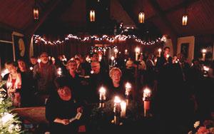 Candlelit service